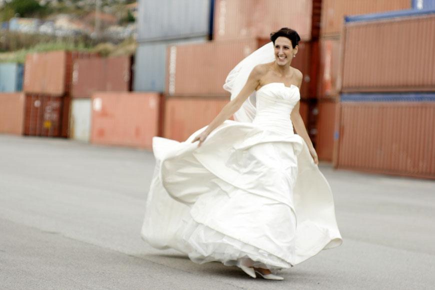 Photo mariée trash
