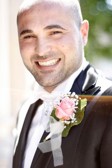 Un marié heureux !