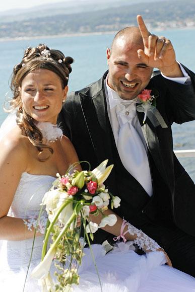 Photos des mariés aux Lecques 83