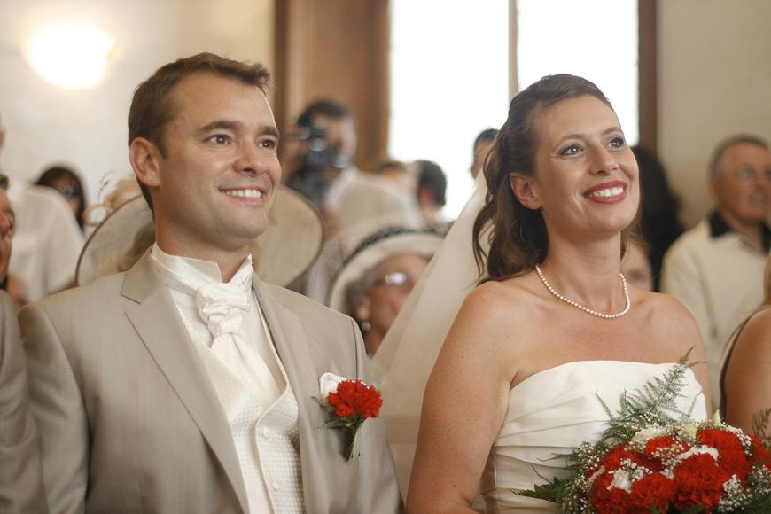Les mariés à la Mairie 13008