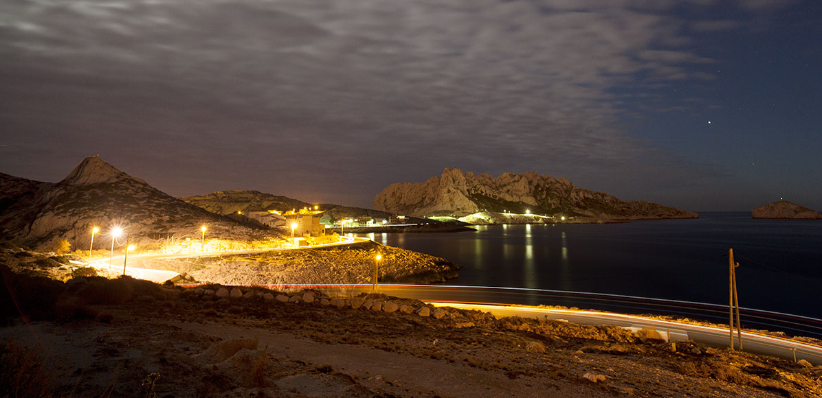 Les Goudes by night - Marseille City